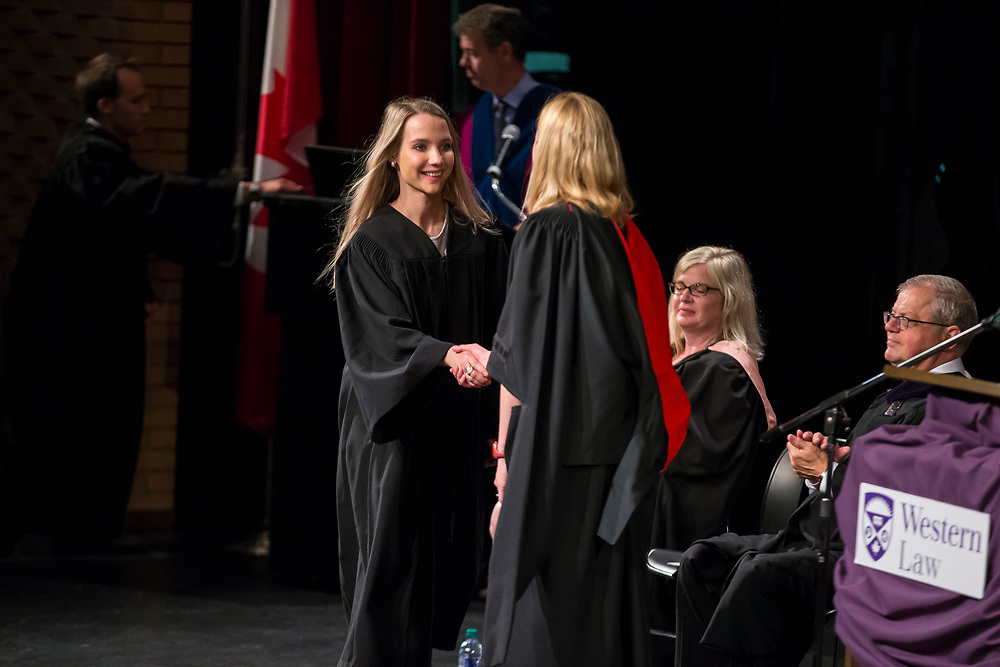 The 2017 Western Law Graduation Ceremony at Althouse College in London Ontario, Wednesday,  June 21, 2017.<br /> Geoff Robins for Western Law