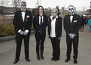monsters in line...could not get them to crack a smile or react at all...tough bunch....<br />