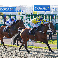 Lady Lunchalot and Liam Jones winning the 12.20 race