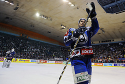 """11.03.2012, Dom Sportova, Zagreb, CRO, EBEL, KHL Medvescak Zagreb vs EC KAC, Playoff, Halbfinale, 3. Spiel, im Bild David Brine. . during the semifinal Match of """"Erste Bank Icehockey League"""", third encounter between KHL Medvescak Zagreb and EC KAC at Dom Sportova, Zagreb, Croatia on 2012/03/11. EXPA Pictures © 2012, PhotoCredit: EXPA/ Pixsell/ Daniel Kasap..***** ATTENTION - for AUT only *****"""