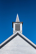 Church detail, Colrain, Vermont, USA.