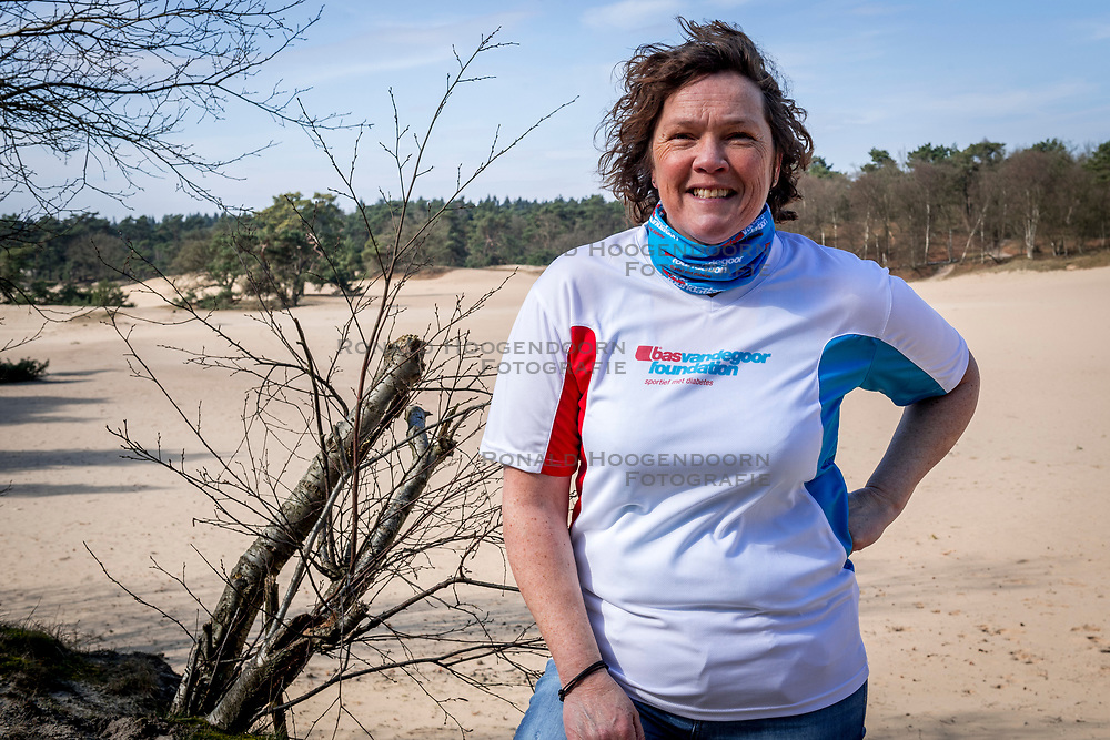 18-03-2018 NED: We hike to change diabetes, Soest<br /> Training voor de Camino 2018 op de Soesterduinen / Petra