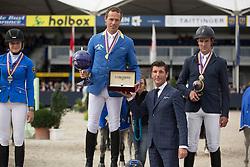 Ahlmann Christian (GER), Wegener Carola (GER), Lemmen Patrick (NED)<br /> Final 6 years<br /> FEI World Breeding Jumping Championships for Young Horses - Lanaken 2014<br /> © Dirk Caremans