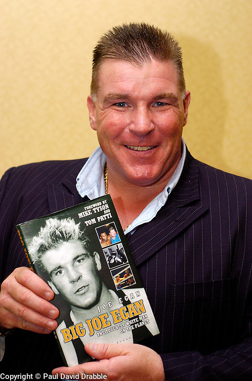 Big Joe Egan who most famously sparred over 1,000 rounds with MikeTyson with his autobiography which is soon to be re released.1 September 2006.Copyright Paul David Drabble