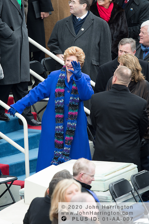 Sen. Debbie Stabenow at the 57th Presidential Inauguration of President Barack Obama at the U.S. Capitol Building in Washington, DC January 21, 2013.