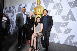 """Evan Hayes, Shannon Dill, Elizabeth Chai Vasarhelyi and Jimmy Chin of the Oscar® nominated documentary feature """"Free Solo"""" prior to the Academy of Motion Picture Arts and Sciences' """"Oscar Week: Documentaries"""" event on Tuesday, February 19, 2019 at the Samuel Goldwyn Theater in Beverly Hills. The Oscars® will be presented on Sunday, February 24, 2019, at the Dolby Theatre® in Hollywood, CA and televised live by the ABC Television Network."""