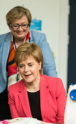 Scottish National Party leader, Nicola Sturgeon, joins Council candidates in Edinburgh to launch the SNP's manifesto for the 2017 Local Government election.<br /> <br /> Pictured: First Minister, Nicola Sturgeon and Joanna Cherry QC MP