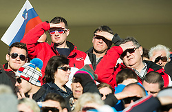 Spectators during Men 15 km Mass Start at day 4 of IBU Biathlon World Cup 2014/2015 Pokljuka, on December 21, 2014 in Rudno polje, Pokljuka, Slovenia. Photo by Vid Ponikvar / Sportida