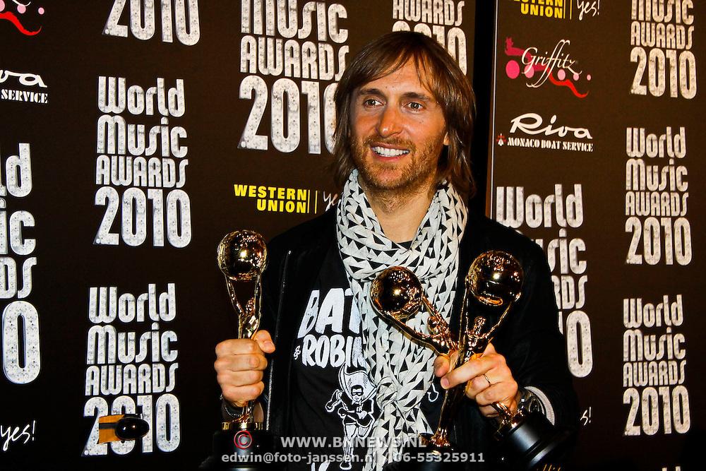 MON/Monte Carlo/20100512 - World Music Awards 2010,  David Guetta