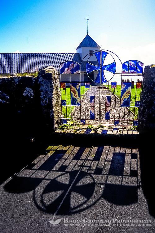 Faroe Islands. Saint Olav's Church from 12th century in Kirkjubøur.