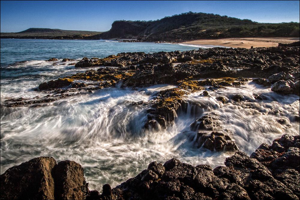 Beach scene on west end. Molokai, Hawaii