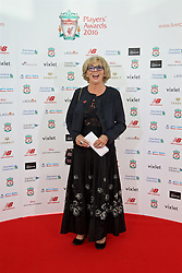 LIVERPOOL, ENGLAND - Thursday, May 12, 2016: Actress Sue Johnston arrives on the red carpet for the Liverpool FC Players' Awards Dinner 2016 at the Liverpool Arena. (Pic by David Rawcliffe/Propaganda)