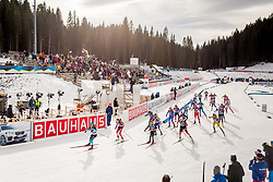 Venue during Single Mixed Relay at day 1 of IBU Biathlon World Cup 2018/19 Pokljuka, on December 2, 2018 in Rudno polje, Pokljuka, Pokljuka, Slovenia. Photo by Ziga Zupan / Sportida