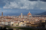 The City of Florence, Il Duomo di Firenze, Cathedral of Florence, and the River Arno, Tuscany, Italy RESERVED USE - NOT FOR DOWNLOAD - FOR USE CONTACT TIM GRAHAM