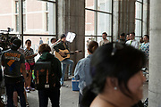 Daniel Padilla recording a song in the Rijksmuseum overpass Amsterdam July 2018