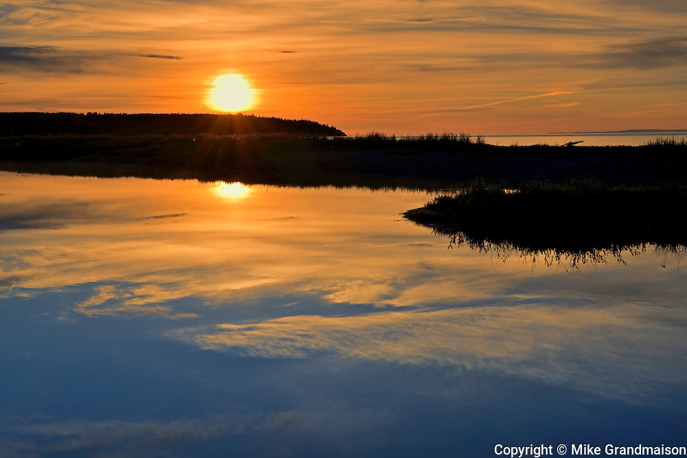 Sunrise on the Bay of Fundy<br /> St. Martins<br /> New Brunswick<br /> Canada
