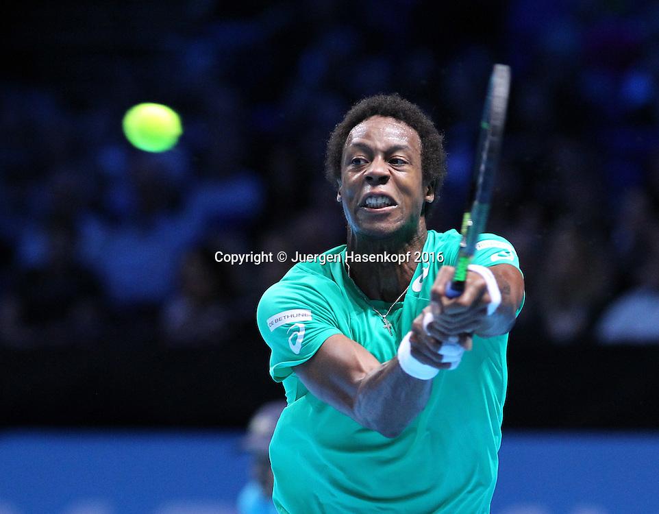 GAEL MONFILS (FRA), ATP World Tour Finals, O2 Arena, London, England.<br /> <br /> Tennis - ATP World Tour Finals 2016 - ATP -  O2 Arena - London -  - Great Britain  - 15 November 2016. <br /> &copy; Juergen Hasenkopf/Grieves