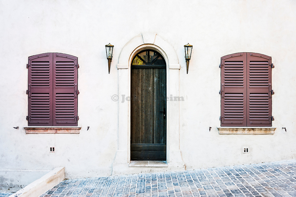 Charming traditional house detail, San Tropez, France.