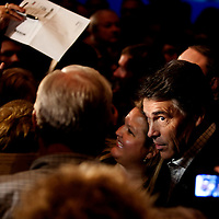 ORLANDO, FL -- September 22, 2011 -- Republican presidential candidate Gov. Rick Perry is lost in the crowd during the Florida P5 Faith and Freedom Coalition Kick-Off at the Rosen Centre Hotel in Orlando, Fla., on Thursday, September 22, 2011.  Nine Republican presidential candidates congregated for a Fox News / Google Debate.   (Chip Litherland for The New York Times)