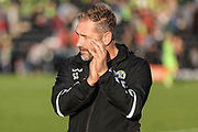 Forest Green Rovers assistant manager, Scott Lindsey during the EFL Sky Bet League 2 match between Forest Green Rovers and Cheltenham Town at the New Lawn, Forest Green, United Kingdom on 20 October 2018.