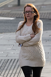© Licensed to London News Pictures . Manchester , UK . FILE PICTURE DATED 14/03/2014 of LOUISE ASPINALL (34) of Worsley , Greater Manchester , as today (4th April 2014) Apsinall is due to appear before a preliminary hearing at Manchester Crown Court . Aspinall is charged with one count of sexual touching with a boy under 13 and three counts of penetrative sexual activity with the same boy . Photo credit : Joel Goodman/LNP