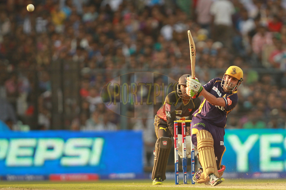 Gautam Gambhir during match 17 of the Pepsi Indian Premier League between The Kolkata Knight Riders and the Sunrisers Hyderabad held at the Eden Gardens Stadium in Kolkata on the 14th April 2013. Photo by Jacques Rossouw-IPL-SPORTZPICS ..Use of this image is subject to the terms and conditions as outlined by the BCCI. These terms can be found by following this link:..http://www.sportzpics.co.za/image/I0000SoRagM2cIEc