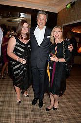 Left to right, ELAINE FORAN, NICHOLAS HOFGREN and SOPHIE CONRAN at the Blue Monday Cheese Launch presented by Alex James and held at The Cadogan Hotel, Sloane street, London on 11th June 2013.
