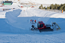 It takes 20,000 cubic metres of snow to make the banked slalom course for La Molina 2015.