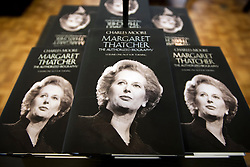 © London News Pictures. 23/04/2013. London, UK. Copies of 'Margaret Thatcher, The Authorized Biography' by Charles Moore on sale at Waterstones Bookshop in Piccadillly, London following its release today (23/04/2013). Photo credit: Ben Cawthra/LNP.