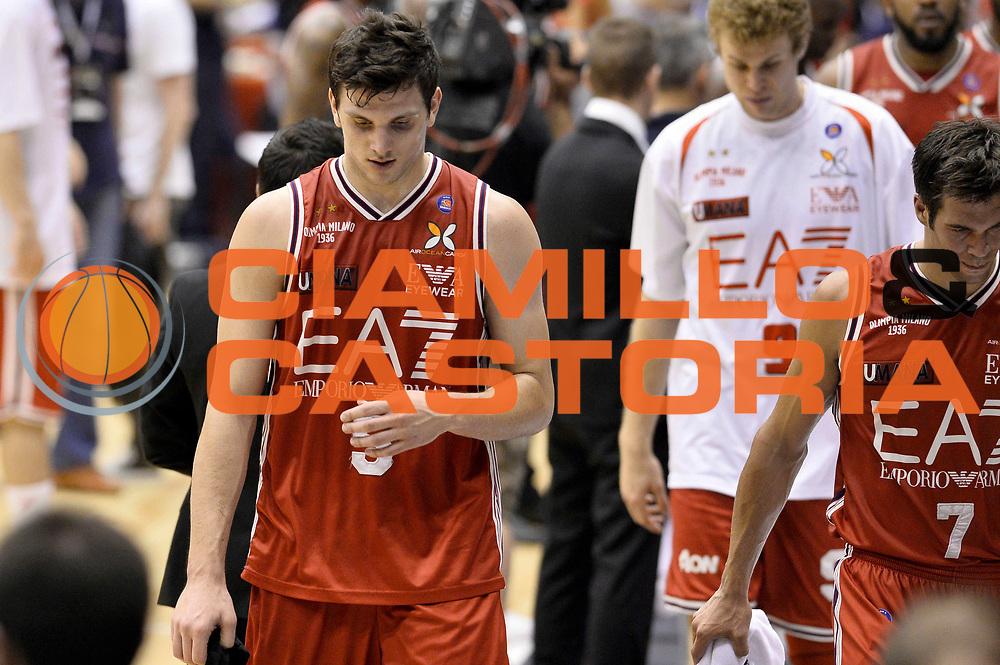 DESCRIZIONE : Milano Lega A 2013-14 EA7 Emporio Armani Milano vs Montepaschi Siena playoff Finale gara 5<br /> GIOCATORE : Alessandro Gentile Bruno Cerella<br /> CATEGORIA : Delusione<br /> SQUADRA : EA7 Emporio Armani Milano<br /> EVENTO : Finale gara 5 playoff<br /> GARA : EA7 Emporio Armani Milano vs Montepaschi Siena playoff Finale gara 5<br /> DATA : 23/06/2014<br /> SPORT : Pallacanestro <br /> AUTORE : Agenzia Ciamillo-Castoria/GiulioCiamillo<br /> Galleria : Lega Basket A 2013-2014  <br /> Fotonotizia : Milano Lega A 2013-14 EA7 Emporio Armani Milano vs Montepaschi Siena playoff Finale gara 5<br /> Predefinita :
