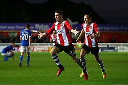 Jack Stacey of Exeter City celebrates scoring a goal - Mandatory by-line: Gary Day/JMP - 18/05/2017 - FOOTBALL - St James Park - Exeter, England - Exeter City v Carlisle United - Sky Bet League Two Play-off Semi-Final 2nd Leg