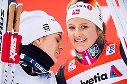 January 1, 2018 - Lenzerheide, Switzerland - Heidi Weng of Norway and Ingvild Flugstad Østberg of Norway after the women's 10km pursuit free technique during Tour de Ski. (Credit Image: © Jon Olav Nesvold/Bildbyran via ZUMA Wire)
