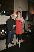 Tariq Khan and Sara Cox.  Westfield Launch and BFC celebrate Fashion Forward. Home House, Portman Sq. London. 30 January 2007.  -DO NOT ARCHIVE-© Copyright Photograph by Dafydd Jones. 248 Clapham Rd. London SW9 0PZ. Tel 0207 820 0771. www.dafjones.com.