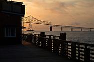 Sunset behind the Astoria-Megler Bridge, Oregon