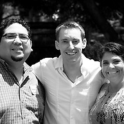 At a fundraiser for Jason Kander, the Missouri 44th District House Representative. Jason poses with Genaro Ruiz and Theresa Garza-Ruiz.