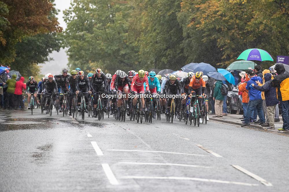 28-09-2019: WK wielrennen: Weg Elite: Yorkshire<br />Wet conditions at the World Championships Cycling in Harrogate right Jos van Emden