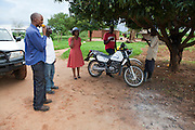 14 December 2010, Mazabuka District, Zambia. Naume Kupe from FAO with Camp Extension Officers from Mazabuka District and Agricultural Officer from MACO.