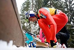 Gregor Schlierenzauer (AUT) of Austria during Trial round of the FIS Ski Jumping World Cup event of the 58th Four Hills ski jumping tournament, on January 6, 2010 in Bischofshofen, Austria. (Photo by Vid Ponikvar / Sportida)