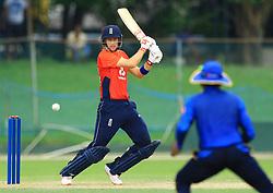 October 5, 2018 - Colombo, Sri Lanka - England test cricket captain Joe Root plays a shot during the practice cricket match between Sri Lanka Board XI and England at P Sara Oval cricket ground, Colombo, Sri Lanka, on October 5, 2018...10-05-2018  (Credit Image: © Tharaka Basnayaka/NurPhoto/ZUMA Press)