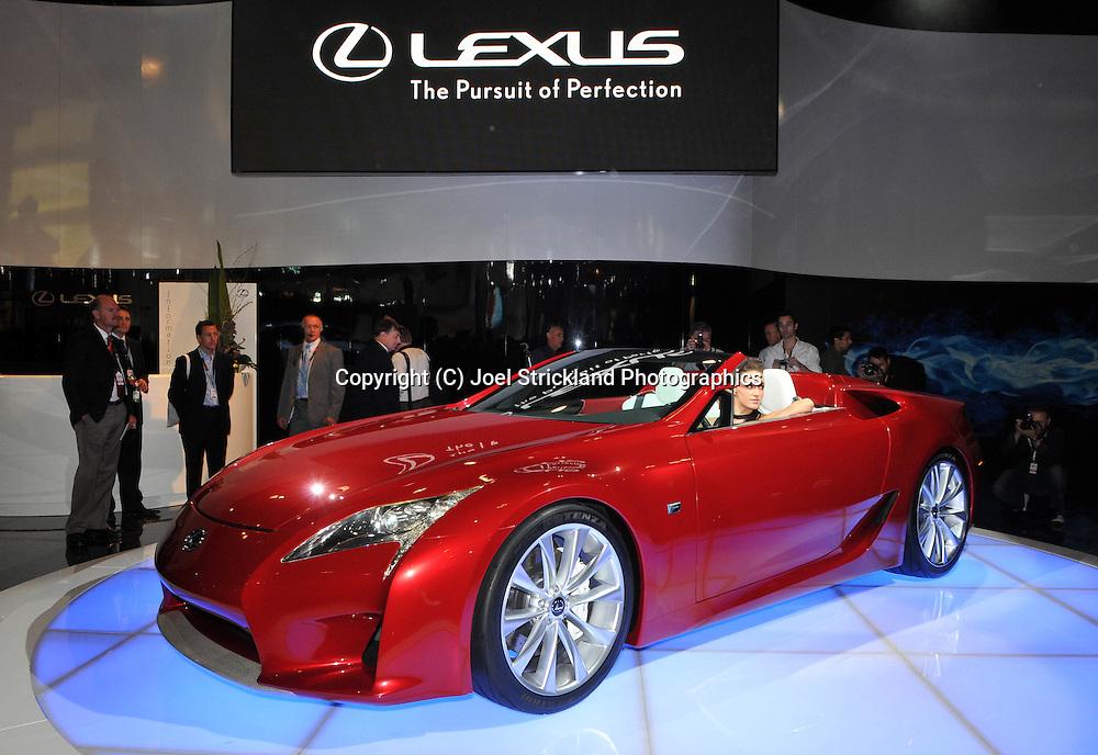 Lexus LF-A Roadster Concept.Media Preview .Melbourne International Motorshow.Melbourne Exhibition Centre.Clarendon St, Southbank, Melbourne .Friday 27th of February 2009.(C) Joel Strickland Photographics.