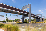 Stainless Steel Modular Pedestrian Bridge Over Irvine Blvd