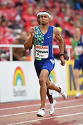 Michael Norman (USA) wins the 400m in 44.51 during the Bauhaus-Galan in a IAAF Diamond League meet at Stockholm Stadium in Stockholm, Sweden on Thursday, May 30, 2019. (Jiro Mochizuki/Image of Sport)