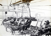 early 1900s on relaxing on a passengers ship