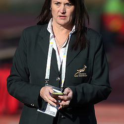 PADUA, ITALY - NOVEMBER 22: Annelee Murray PR and Admin Manager during the Castle Lager Outgoing Tour match between Italy and South African at Stadio Euganeo on November 22, 2014 in Padua, Italy. (Photo by Steve Haag/Gallo Images)