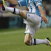 Lionel Messi, Argentina, in action during the Brazil V Argentina International Football Friendly match at MetLife Stadium, East Rutherford, New Jersey, USA. 9th June 2012. Photo Tim Clayton