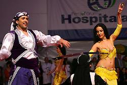 """Shows étnicos na """"Noite das Nações"""" durante a HOSPITALAR 2007-14ª Feira Internacional de Produtos, Equipamentos, Serviços e Tecnologia para Hospitais, Laboratórios, Clínicas e Consultórios, que acontece de 12 a 15 de junho de 2007, no Expo Center Norte, em São Paulo. FOTO: Jefferson Bernardes/Preview.com"""