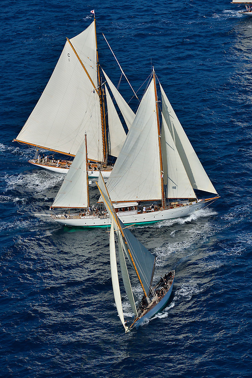 France Saint - Tropez October 2013, Classic yachts racing at the Voiles de Saint - Tropez