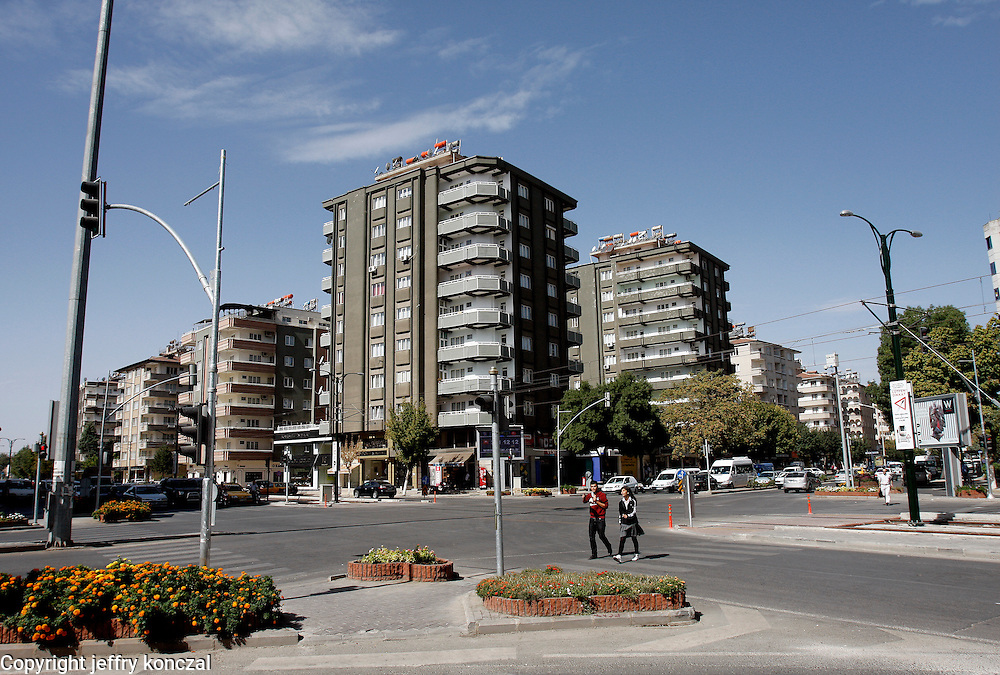 A intersection in Gaziantep, Turkey