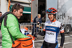 A big workout for Carmen Small, going on to finish 5th - Women's Gent Wevelgem 2016, a 115km UCI Women's WorldTour road race from Ieper to Wevelgem, on March 27th, 2016 in Flanders, Belgium.