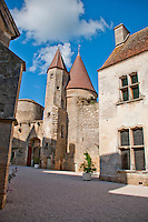 Buildings from the inner courtyard of Chateauneuf-en-Auxois, France.